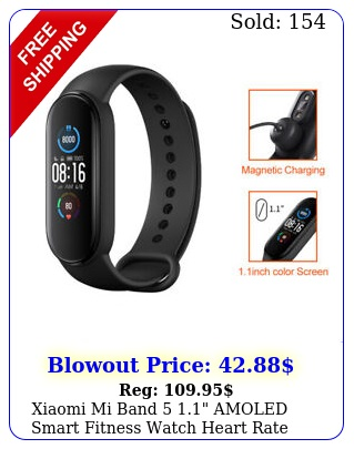 xiaomi mi band  amoled smart fitness watch heart rate monitor black globa