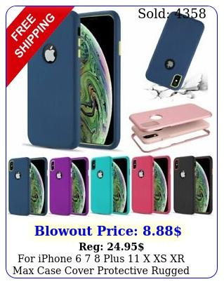 iphone  plus x xs xr max case cover protective rugged shockproo