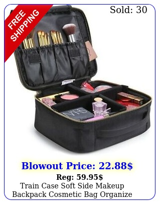 train case soft side makeup backpack cosmetic bag organize carry on trave