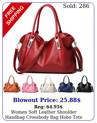 women soft leather shoulder handbag crossbody bag hobo tote messenger satche