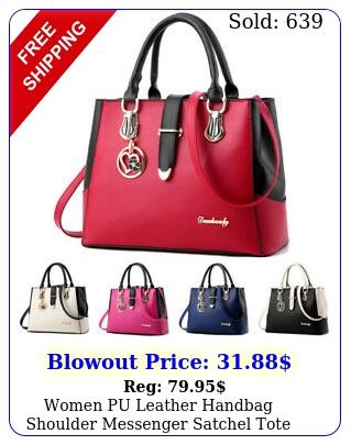 women pu leather handbag shoulder messenger satchel tote purse crossbody ba