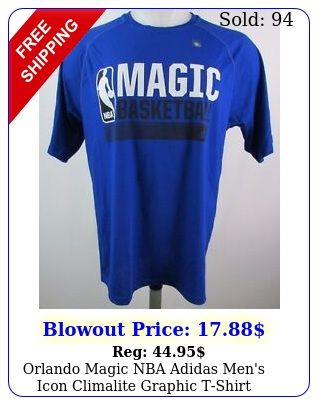 orlando magic nba adidas men's icon climalite graphic tshir