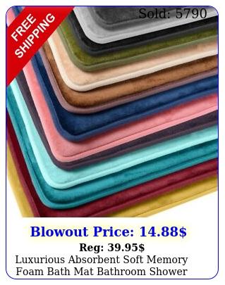 luxurious absorbent soft memory foam bath mat bathroom shower rug non sli