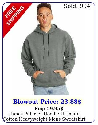 hanes pullover hoodie ultimate cotton heavyweight mens sweatshirt sz sxl
