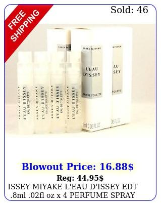 issey miyake l'eau d'issey edt ml fl oz x perfume spray sample vial