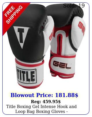 title boxing gel intense hook loop bag boxing gloves blackwhitere