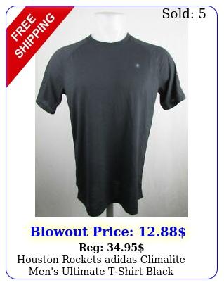 houston rockets adidas climalite men's ultimate tshirt blac