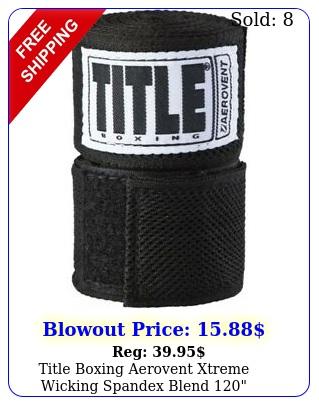 title boxing aerovent xtreme wicking spandex blend handwraps blac