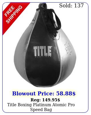 title boxing platinum atomic pro speed ba