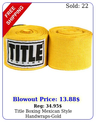 title boxing mexican style handwrapsgol