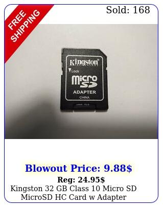 kingston gb class micro sd microsd hc card w adapter  warranty free shi