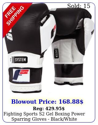 fighting sports s gel boxing power sparring gloves blackwhit