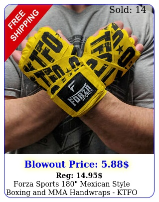forza sports mexican style boxing mma handwraps ktfo yello