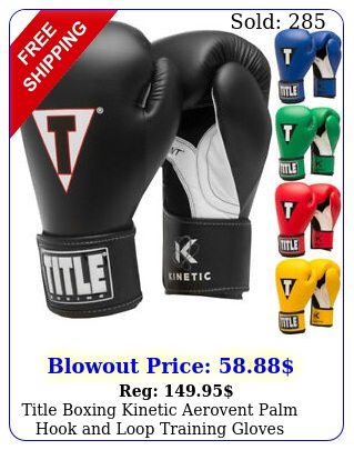 title boxing kinetic aerovent palm hook loop training glove