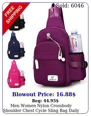 men women nylon crossbody shoulder chest cycle sling bag daily travel backpac