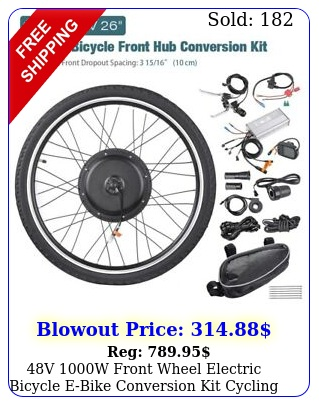 v w front wheel electric bicycle ebike conversion kit cycling motor lc