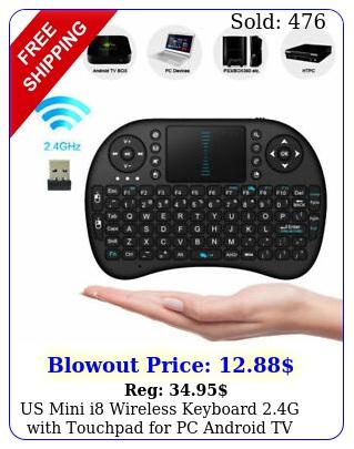 us mini i wireless keyboard g with touchpad pc android tv kodi medi