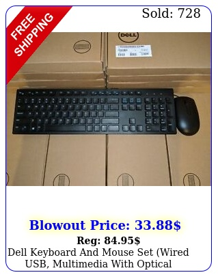 dell keyboard mouse set wired usb multimedia with optical mous