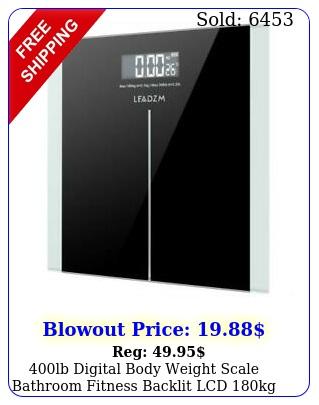 lb digital body weight scale bathroom fitness backlit lcd kg  batter