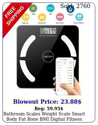 bathroom scales weight scale smart body fat bone bmi digital fitness lbk