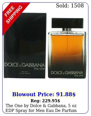 the one by dolce gabbana oz edp spray men eau de parfu