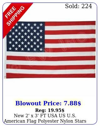 ' x ' ft usa us us american flag polyester nylon stars brass grommet