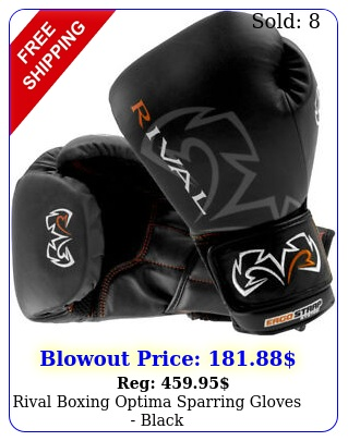 rival boxing optima sparring gloves blac