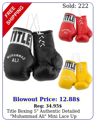 title boxing authentic detailed muhammad ali mini lace up glove