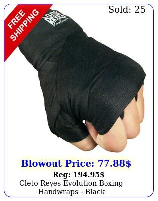 cleto reyes evolution boxing handwraps blac