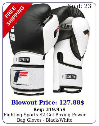 fighting sports s gel boxing power bag gloves blackwhit