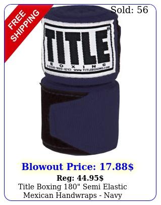 title boxing semi elastic mexican handwraps nav