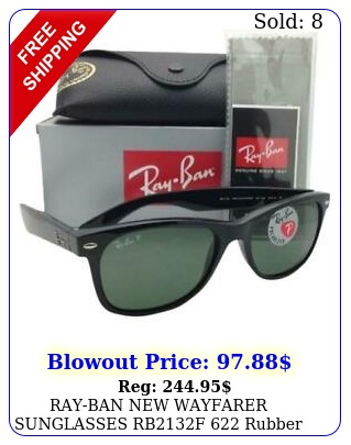 rayban wayfarer sunglasses rbf rubber black w g green len