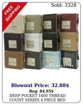 deep pocket thread count series piece bed super soft sheet set all size