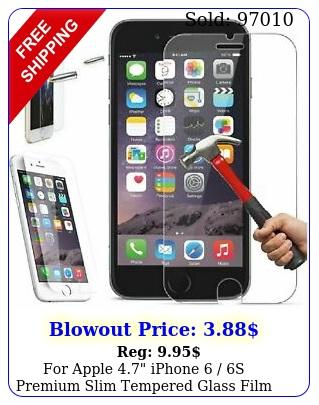 apple iphone  s premium slim tempered glass film screen protecto