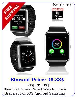 bluetooth smart wrist watch phone bracelet ios android samsung iphone ht