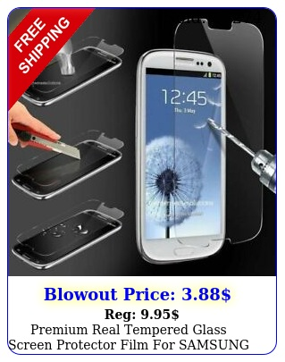 premium real tempered glass screen protector film samsung galaxy s