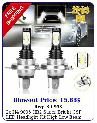 x h hb super bright csp led headlight kit high low beam bulb white