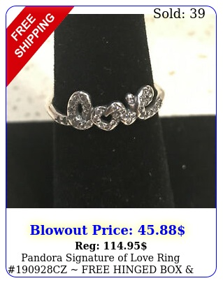 pandora signature of love ring cz free hinged polish cloth  ta