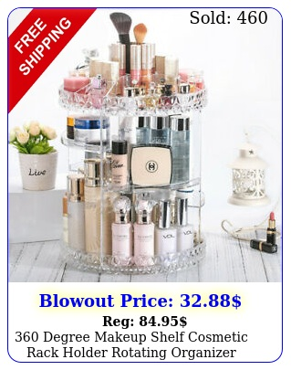 degree makeup shelf cosmetic rack holder rotating organizer storage cas