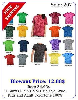 tshirts plain colors tie dye style kids adult colortone cotton o