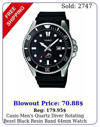 casio men's quartz diver rotating bezel black resin band mm watch mdv
