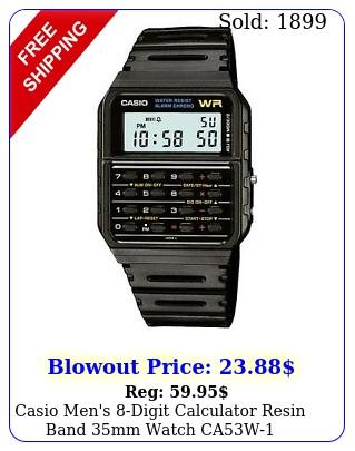 casio men's digit calculator resin band mm watch ca