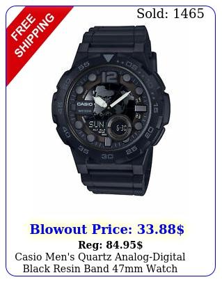 casio men's quartz analogdigital black resin band mm watch aeqwb