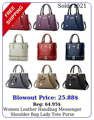 women leather handbag messenger shoulder bag lady tote purse crossbody satche