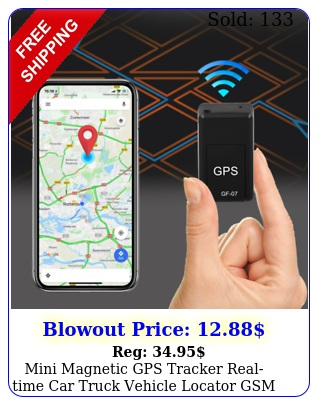 mini magnetic gps tracker realtime car truck vehicle locator gsm gprs si