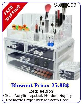 clear acrylic lipstick holder display cosmetic organizer makeup case storage se