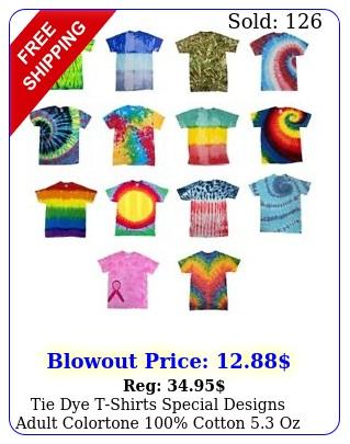 tie dye tshirts special designs adult colortone cotton o