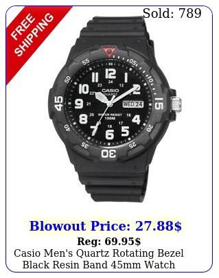 casio men's quartz rotating bezel black resin band mm watch mrwhb