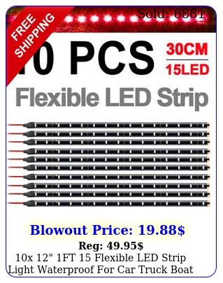 x ft flexible led strip light waterproof car truck boat