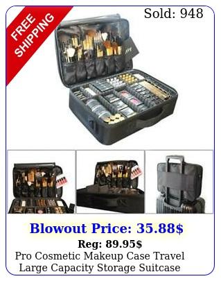 pro cosmetic makeup case travel large capacity storage suitcase organizer ba